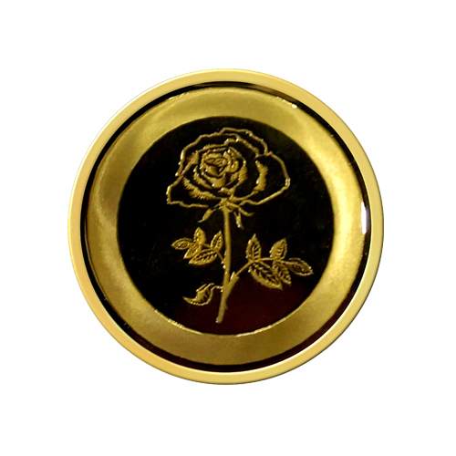 2D Flower Gold Coin