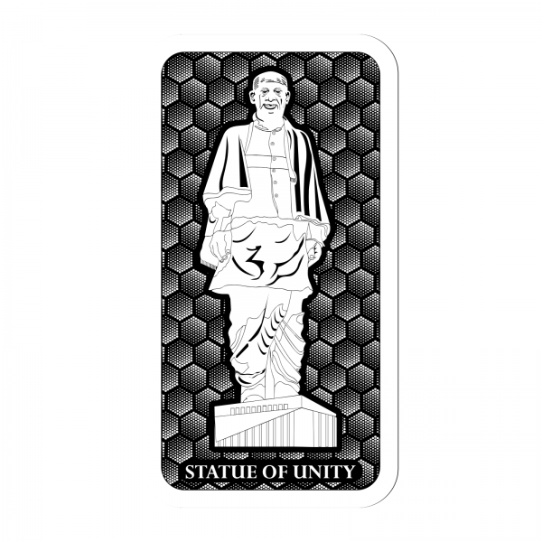 Statue Of Unity Silver Coin